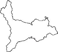 岩手県北上市(きたかみし)の白地図無料ダウンロード
