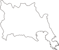 岩手県陸前高田市(りくぜんたかたし)の白地図無料ダウンロード