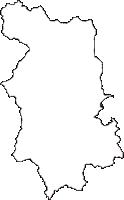 岩手県岩手郡雫石町(しずくいしちょう)の白地図無料ダウンロード