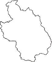 岩手県岩手郡葛巻町(くずまきまち)の白地図無料ダウンロード