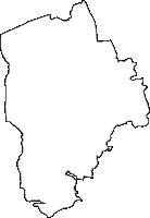 岩手県岩手郡滝沢村(たきざわむら)の白地図無料ダウンロード