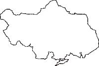 岩手県紫波郡矢巾町(やはばちょう)の白地図無料ダウンロード