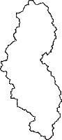 岩手県和賀郡西和賀町(にしわがまち)の白地図無料ダウンロード