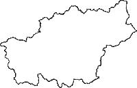 岩手県気仙郡住田町(すみたちょう)の白地図無料ダウンロード