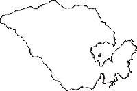 岩手県下閉伊郡山田町(やまだまち)の白地図無料ダウンロード
