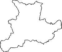 岩手県下閉伊郡岩泉町(いわいずみちょう)の白地図無料ダウンロード