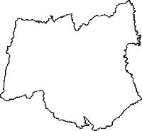 岩手県下閉伊郡田野畑村(たのはたむら)の白地図無料ダウンロード