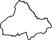 岩手県下閉伊郡普代村(ふだいむら)の白地図無料ダウンロード