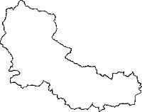 宮城県仙台市青葉区(あおばく)の白地図無料ダウンロード