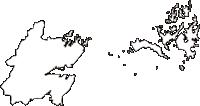 宮城県塩竈市(しおがまし)の白地図無料ダウンロード