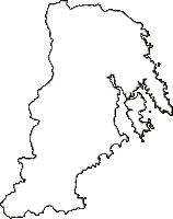 宮城県気仙沼市(けせんぬまし)の白地図無料ダウンロード
