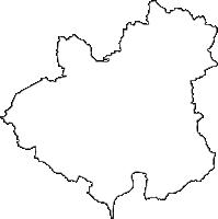 宮城県登米市(とめし)の白地図無料ダウンロード