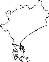 宮城県東松島市(ひがしまつしまし)の白地図無料ダウンロード