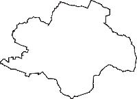 宮城県遠田郡涌谷町(わくやちょう)の白地図無料ダウンロード