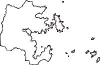 宮城県牡鹿郡女川町(おながわちょう)の白地図無料ダウンロード