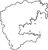 宮城県本吉郡南三陸町(みなみさんりくちょう)の白地図無料ダウンロード