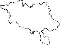 秋田県横手市(よこてし)の白地図無料ダウンロード