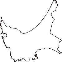 秋田県男鹿市(おがし)の白地図無料ダウンロード
