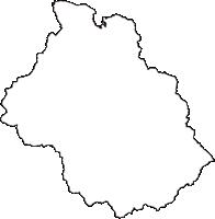 秋田県湯沢市(ゆざわし)の白地図無料ダウンロード
