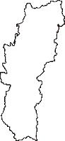 秋田県鹿角市(かづのし)の白地図無料ダウンロード