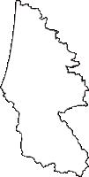 秋田県由利本荘市(ゆりほんじょうし)の白地図無料ダウンロード