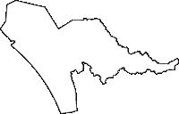 秋田県潟上市(かたがみし)の白地図無料ダウンロード