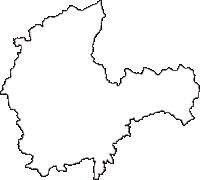 秋田県大仙市(だいせんし)の白地図無料ダウンロード
