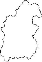 秋田県仙北市(せんぼくし)の白地図無料ダウンロード