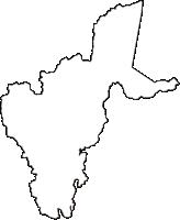 秋田県鹿角郡小坂町(こさかまち)の白地図無料ダウンロード