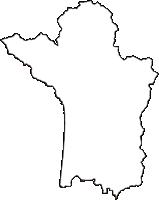 秋田県山本郡八峰町(はっぽうちょう)の白地図無料ダウンロード