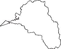秋田県南秋田郡五城目町(ごじょうめまち)の白地図無料ダウンロード