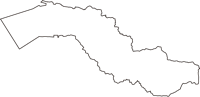 秋田県南秋田郡井川町(いかわまち)の白地図無料ダウンロード