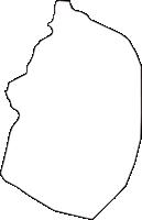 秋田県南秋田郡大潟村(おおがたむら)の白地図無料ダウンロード