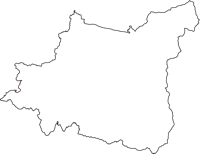 山形県山形市(やまがたし)の白地図無料ダウンロード
