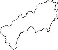 山形県西村山郡朝日町(あさひまち)の白地図無料ダウンロード