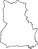 福島県福島市(ふくしまし)の白地図無料ダウンロード