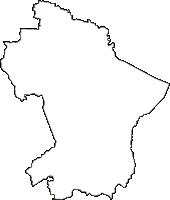 福島県会津若松市(あいづわかまつし)の白地図無料ダウンロード