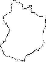 福島県いわき市(いわきし)の白地図無料ダウンロード