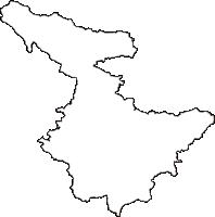 福島県白河市(しらかわし)の白地図無料ダウンロード