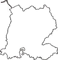 福島県喜多方市(きたかたし)の白地図無料ダウンロード