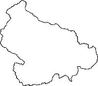 福島県伊達郡桑折町(こおりまち)の白地図無料ダウンロード
