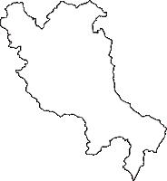 福島県伊達郡川俣町(かわまたまち)の白地図無料ダウンロード