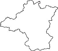 福島県南会津郡下郷町(しもごうまち)の白地図無料ダウンロード