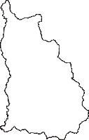 福島県南会津郡檜枝岐村(ひのえまたむら)の白地図無料ダウンロード