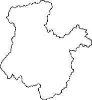 福島県南会津郡只見町(ただみまち)の白地図無料ダウンロード