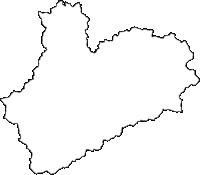 福島県南会津郡南会津町(みなみあいづまち)の白地図無料ダウンロード