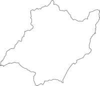 福島県耶麻郡北塩原村(きたしおばらむら)の白地図無料ダウンロード
