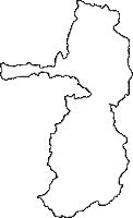福島県河沼郡柳津町(やないづまち)の白地図無料ダウンロード