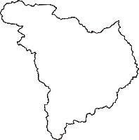 福島県大沼郡昭和村(しょうわむら)の白地図無料ダウンロード