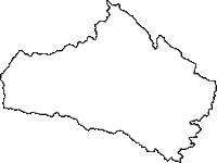 福島県西白河郡西郷村(にしごうむら)の白地図無料ダウンロード